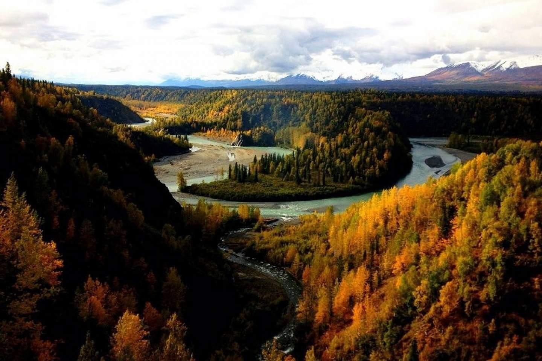 Alaska hurricane gulch fall bridges