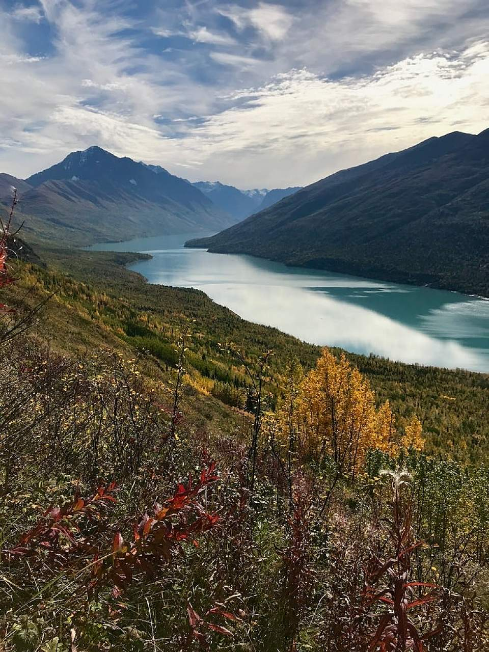 View of Eklutna Lake from the Twin Peaks Trail