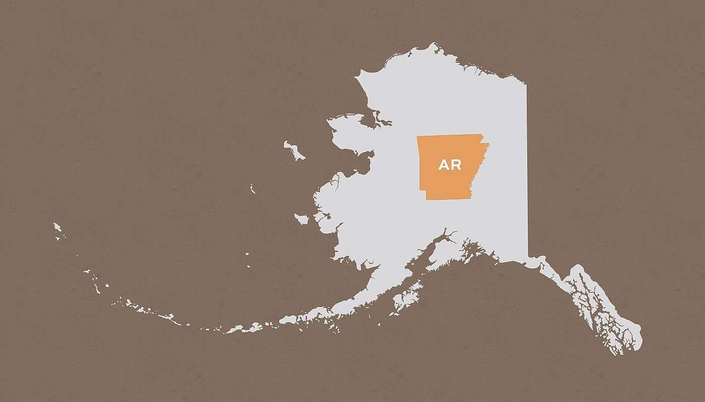 Arkansas compared to Alaska
