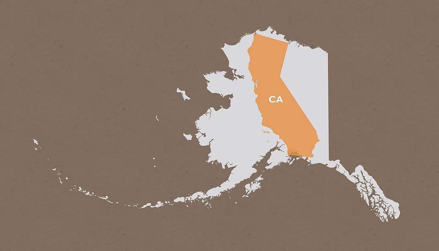 California compared to Alaska