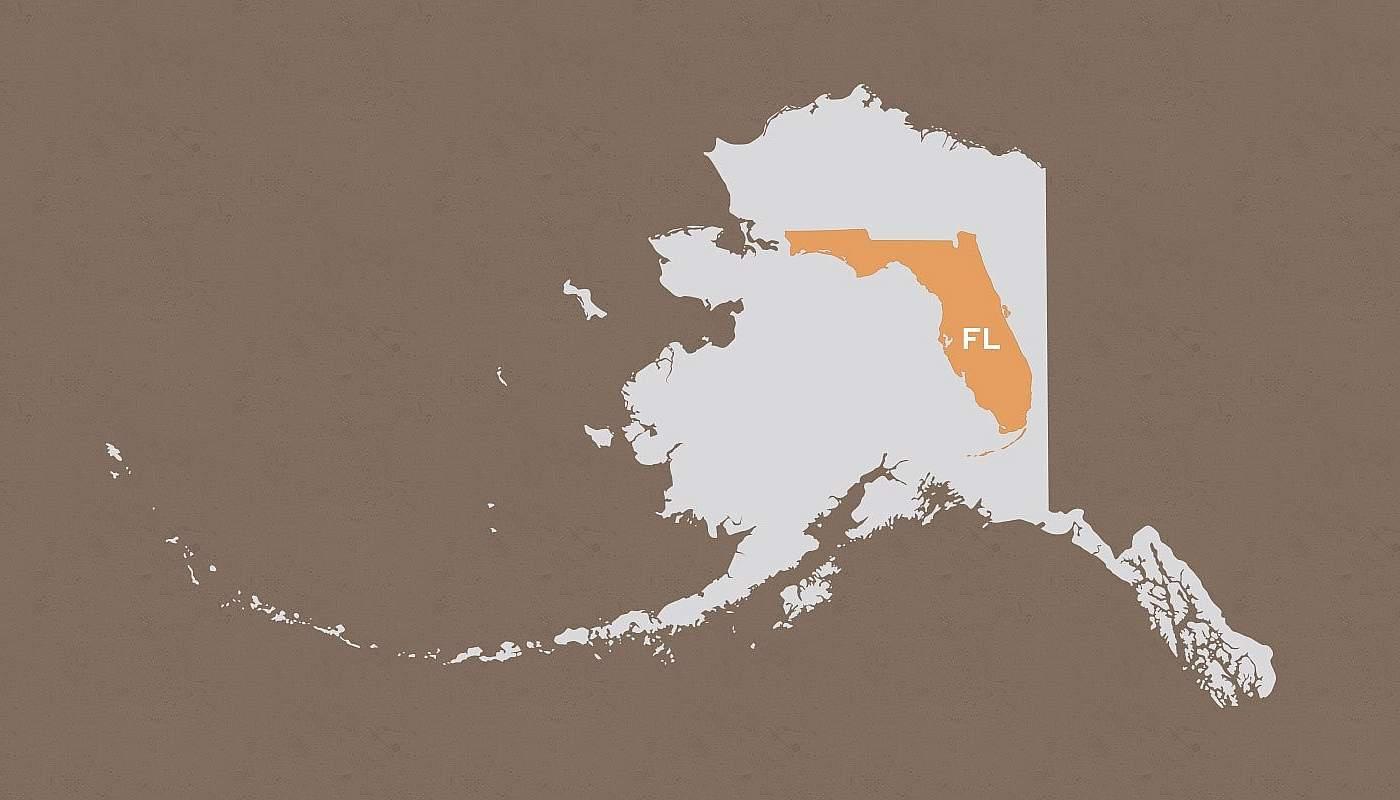 Florida compared to Alaska