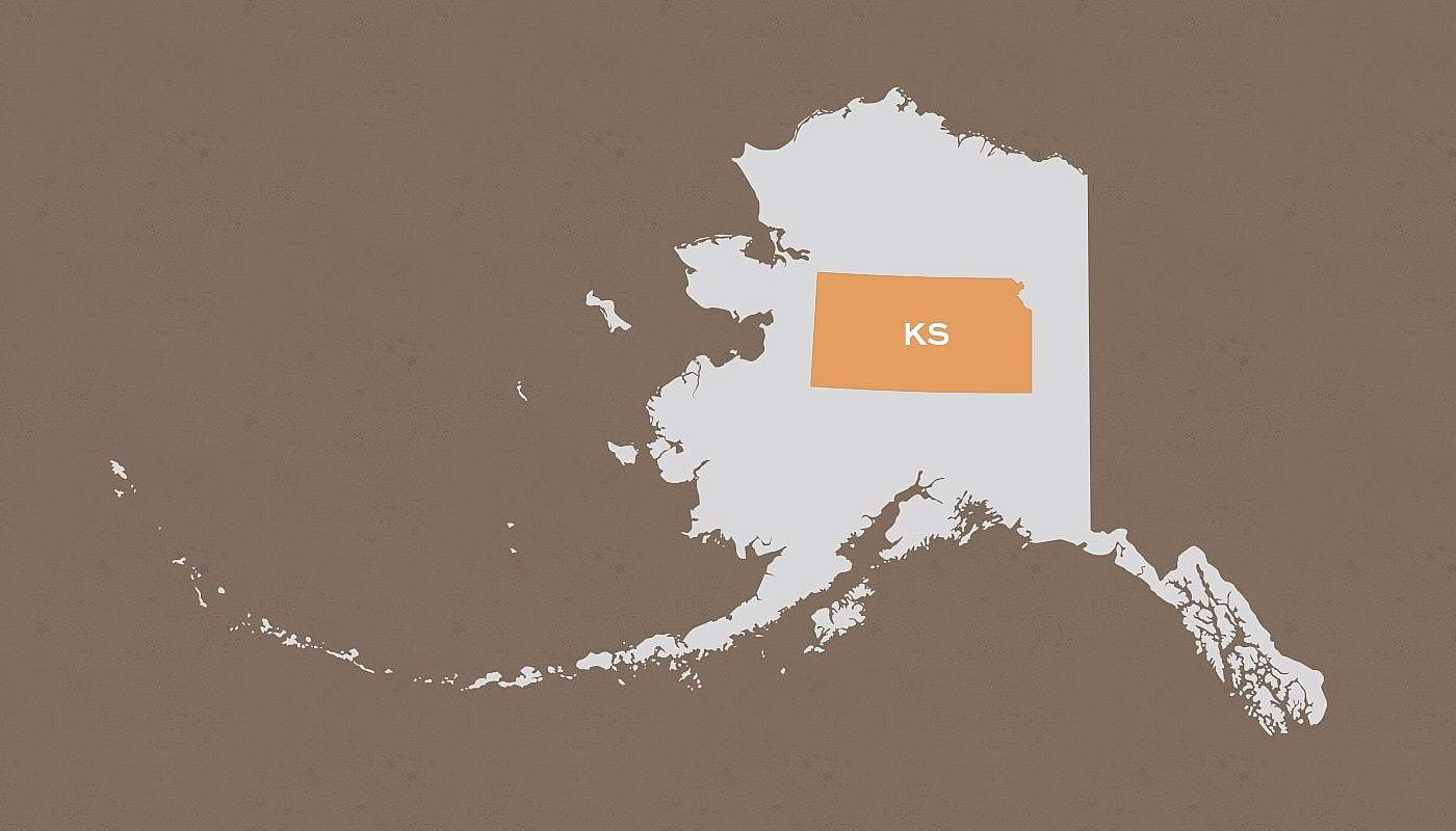 Kansas compared to Alaska