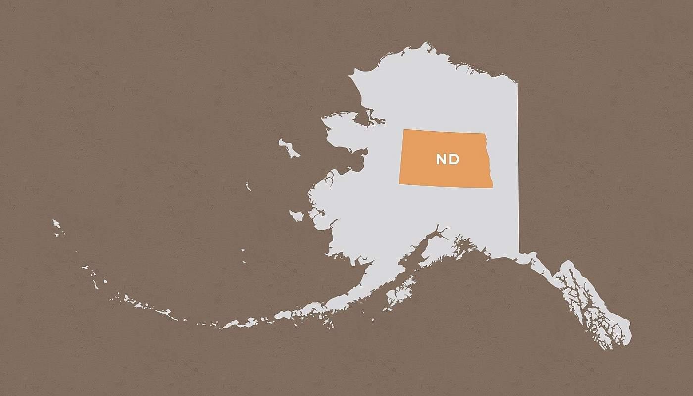 North Dakota compared to Alaska