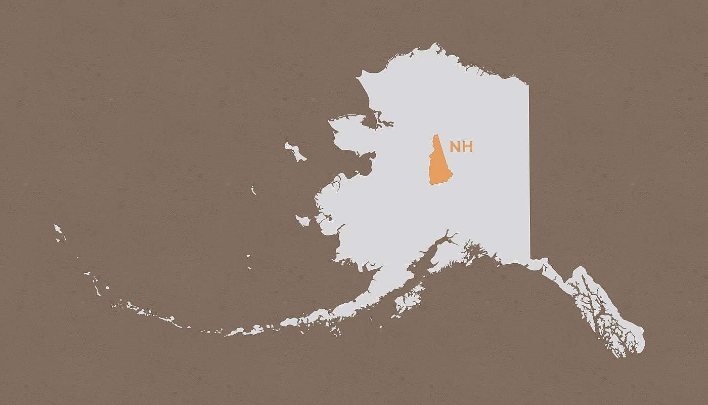 New Hampshire compared to Alaska