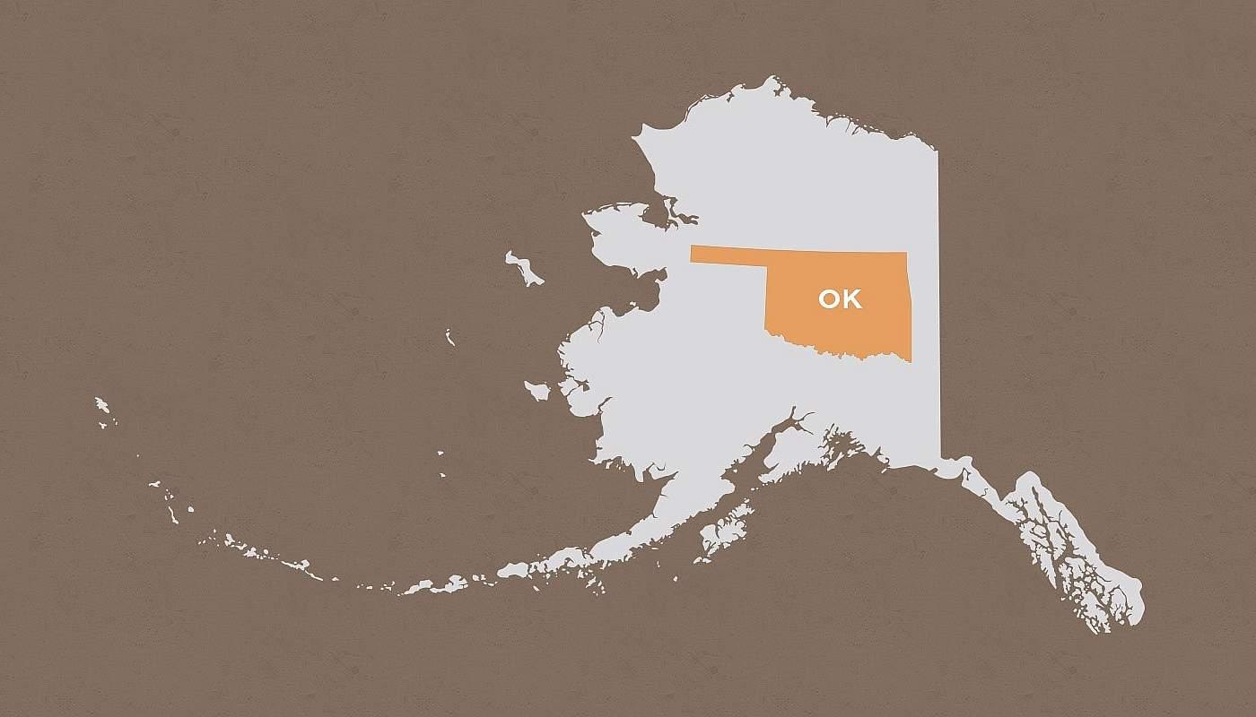 Oklahoma compared to Alaska