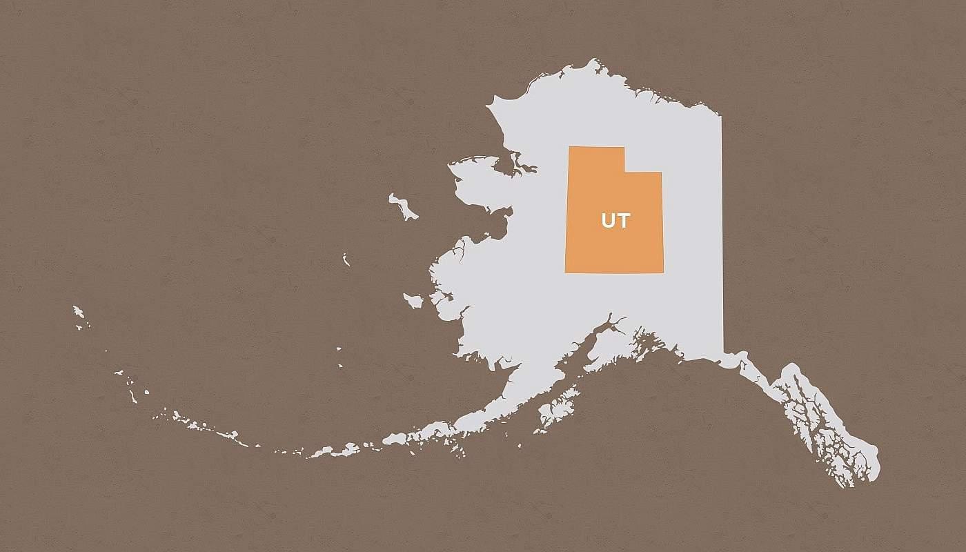 Utah compared to Alaska
