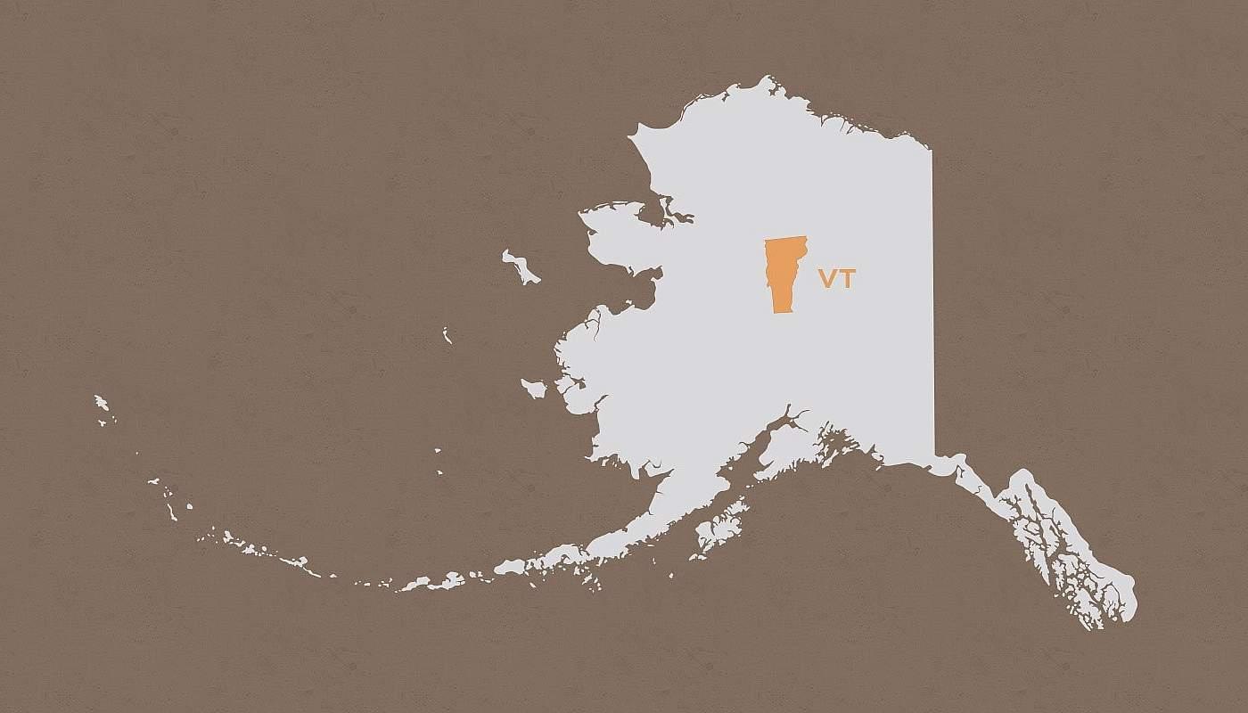 Vermont compared to Alaska