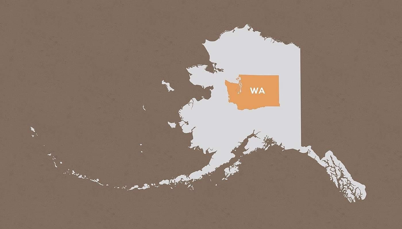 Washington compared to Alaska