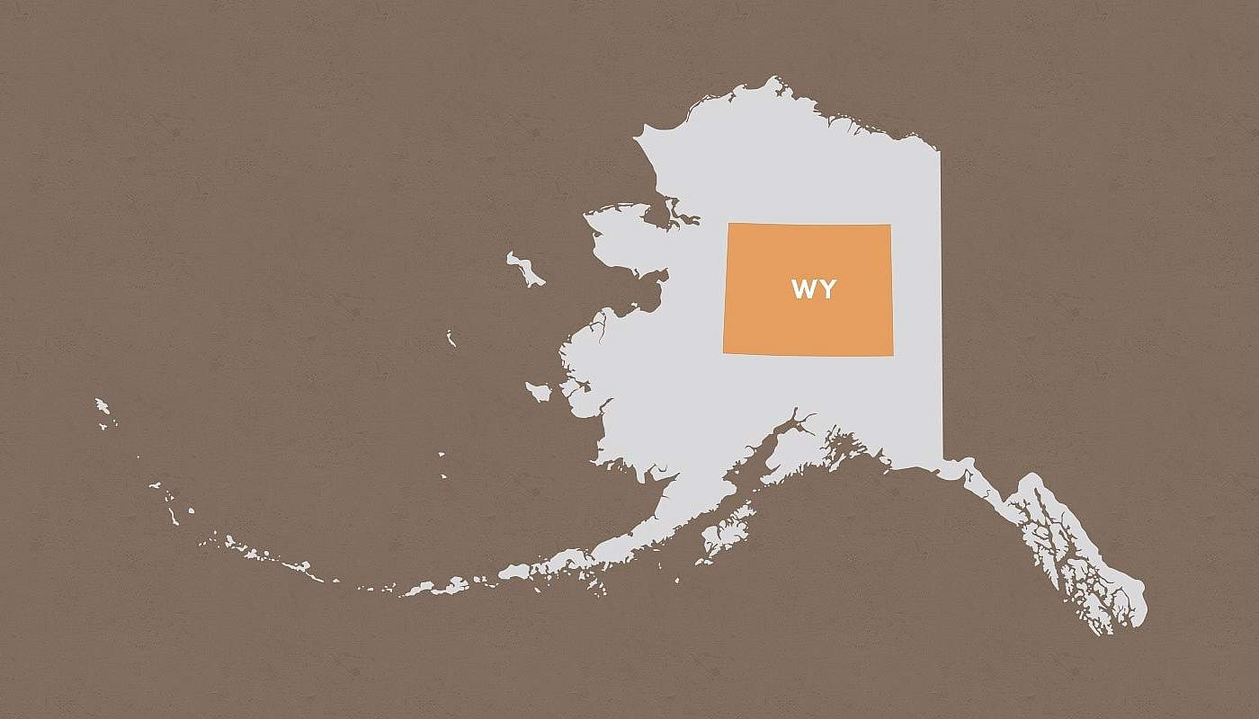 Wyoming compared to Alaska