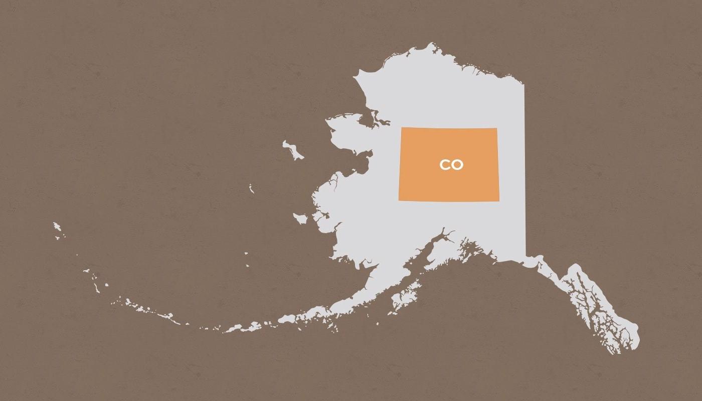Colorado compared to Alaska