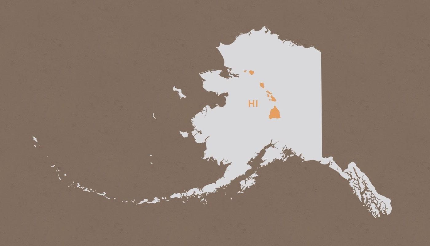 Hawaii compared to Alaska