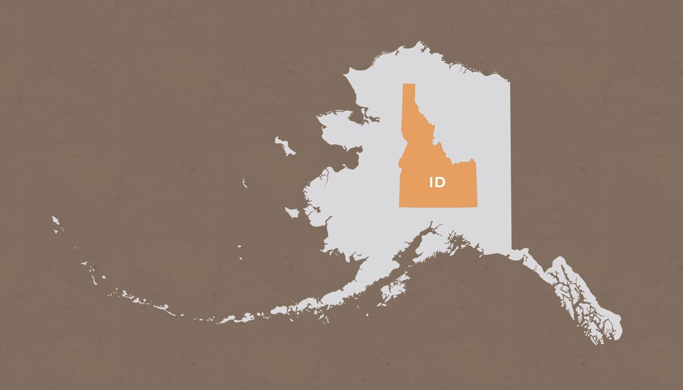 Idaho compared to Alaska