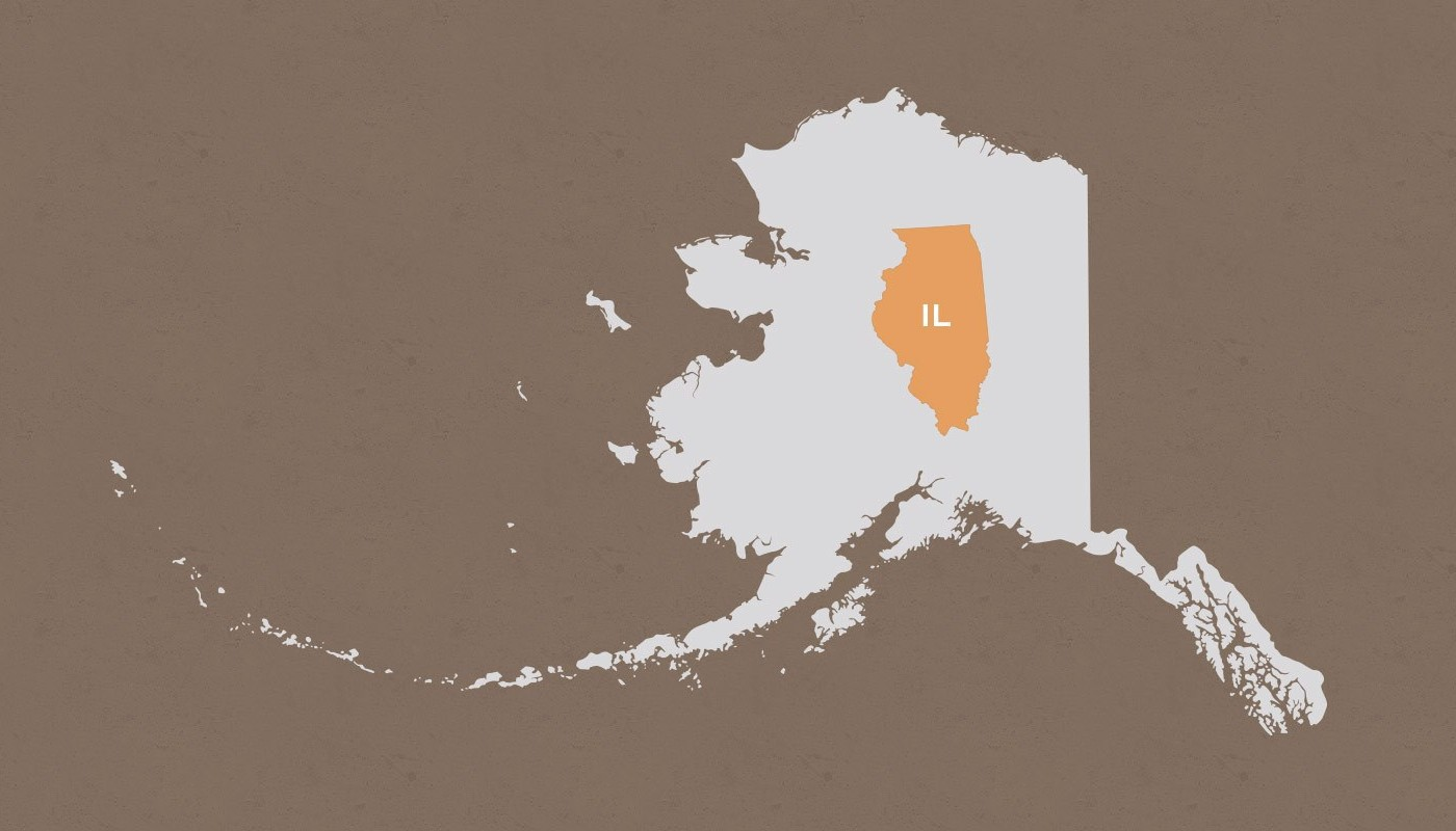 Illinois compared to Alaska