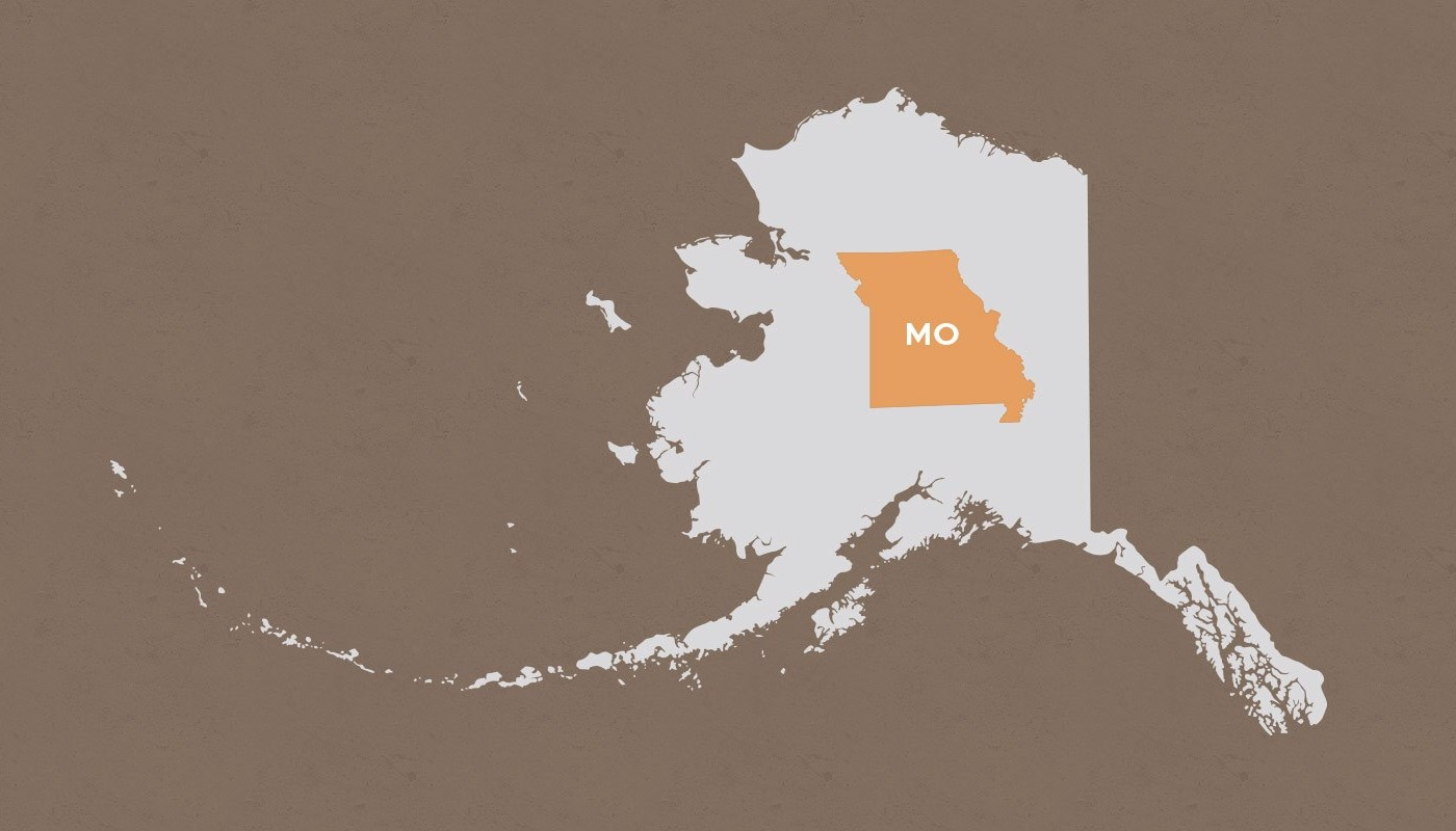 Missouri compared to Alaska