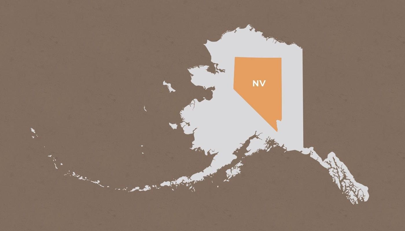 Nevada compared to Alaska