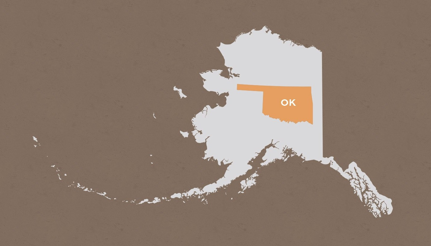 Oklahoma compared to Alaska