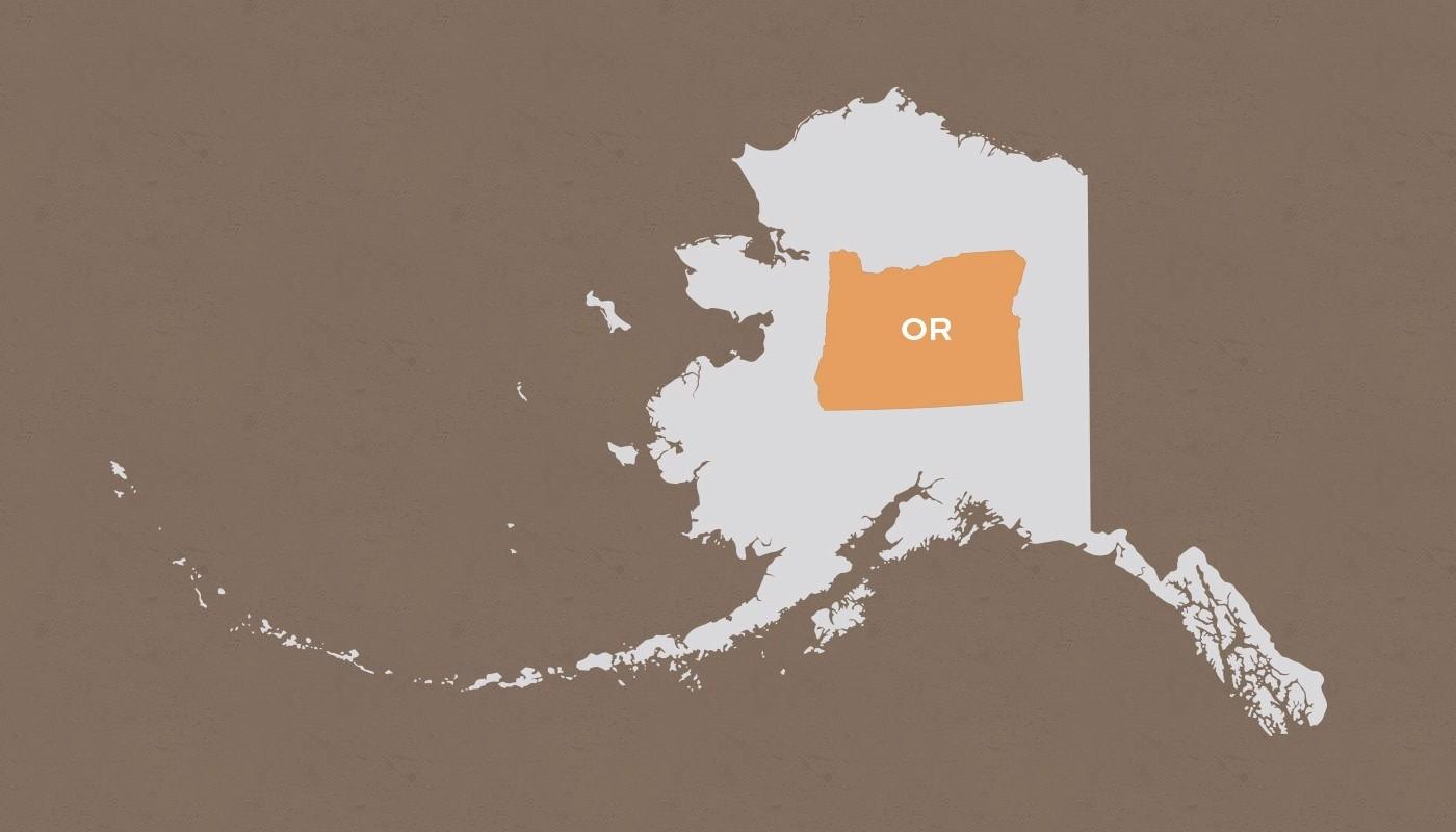 Oregon compared to Alaska