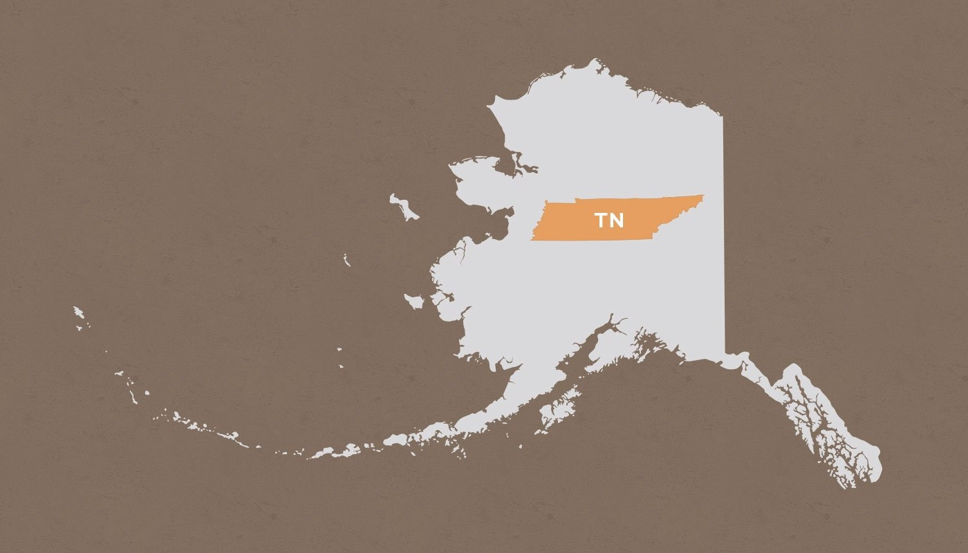Tennessee compared to Alaska