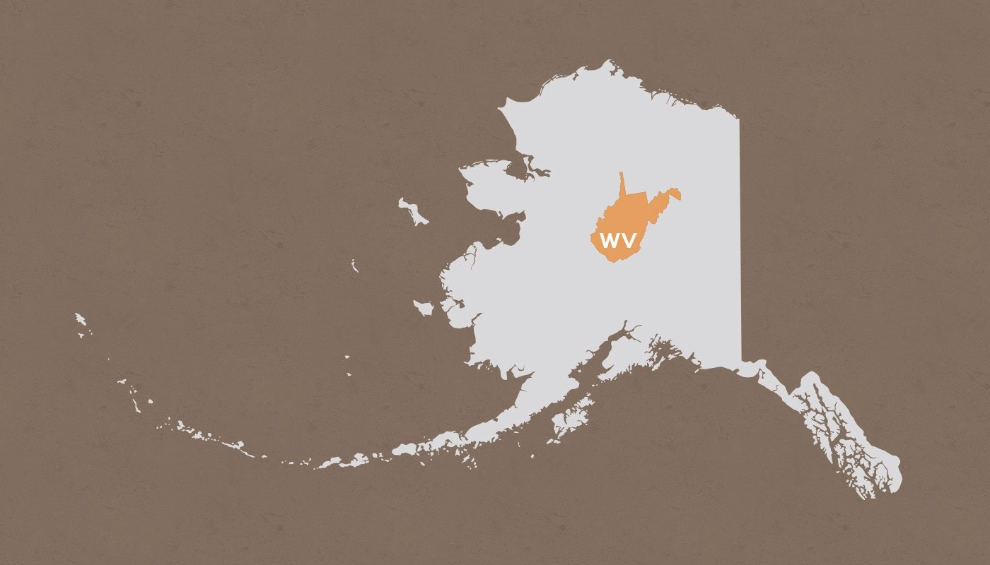 West Virginia compared to Alaska