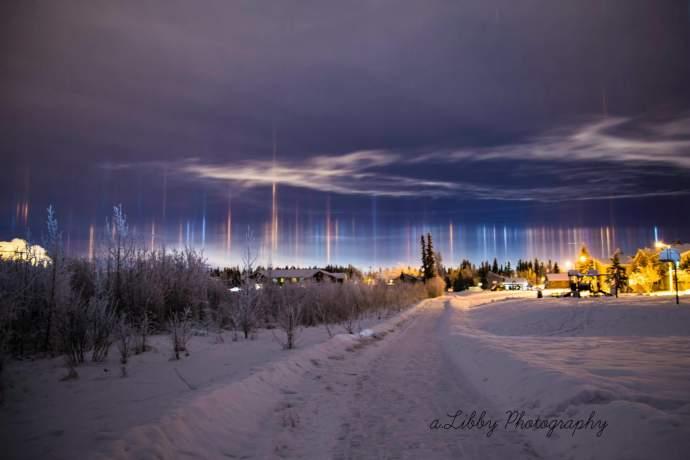 Alaska natural phenomena ft wainwright light Pillar Allisha Libby ph4gh5