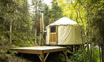 Eagle river nature center nice shot of river yurt 8 12 by laura p21lg7