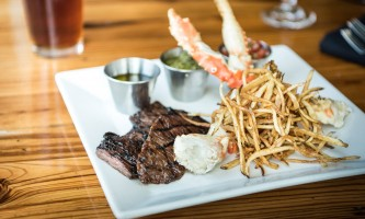 Canyon steakhouse dining surf and turf at canyons steakhouse at mc kinley chalet mc 07 owhov2