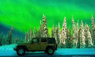 Alaska 4x4 rental jeep wrangler northern lights jan 2018 pgp6o2