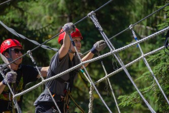 Zipline KTN Rainforest Zip Guests Bridge pik1mu