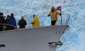 North-pacific-expeditions-North_Pacific_Expeditions-Pam_on_bow_Holgate_glacier-pi965z