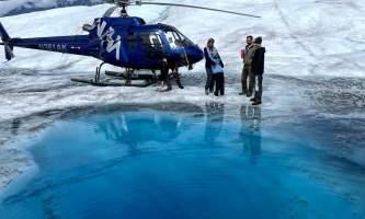 Summer solstice adventure alaska adventure company ephemeral lake heli