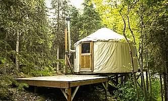 Eagle river nature center nice shot of river yurt 8 12 by laura p21lgp