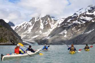 Alaska mountain guides sea kayaking East Arm1 p69hjy