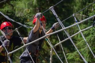 Zipline KTN Rainforest Zip Guests Bridge pik1mu