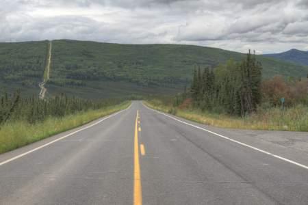 Beginning of Trans-Alaska Pipeline
