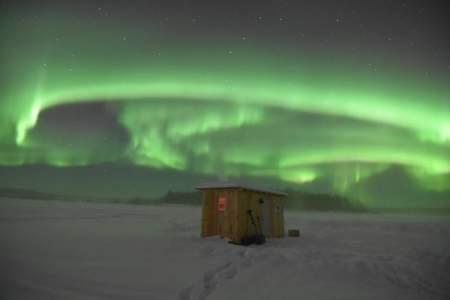 Rod's Alaskan Guide Service Aurora Ice Fishing