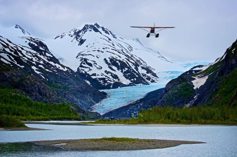 The chalet is just a 15-minute floatplane flight from Homer