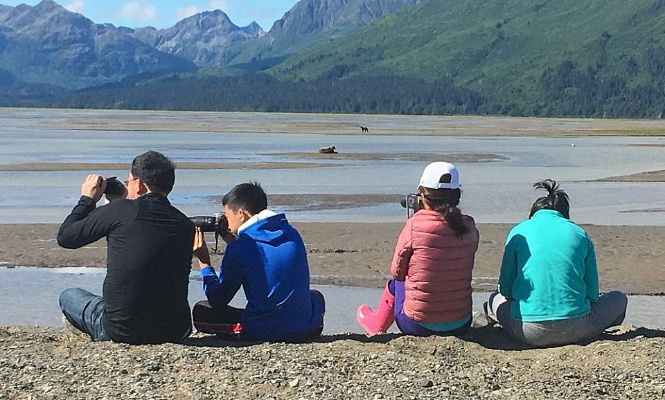 Small group watches bears in Lake Clark National Park