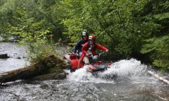 Girdwood ATV girls in peguin creek alaska atv adventures
