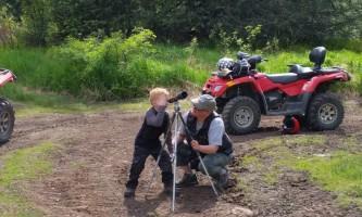 Girdwood 2 child looking for bear alaska atv adventures