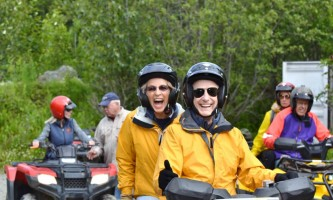 Girdwood Happy Couple alaska atv adventures
