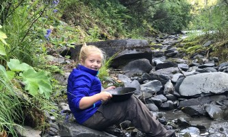 Girdwood Child gold panning alaska atv adventures