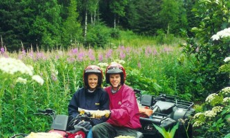 Girdwood ATV couple in fireweed alaska atv adventures
