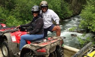 Girdwood couple on the bridge alaska atv adventures