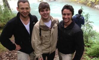 Girdwood guys at waterfall alaska atv adventures