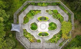2021 Alaska Botanical Garden herb garden abg drone edit g hudson