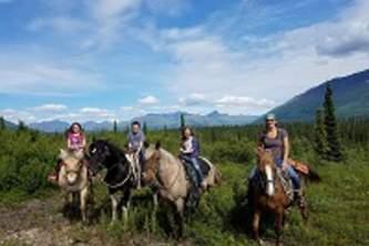 Alaska by air horseback riding Horse Photo resize