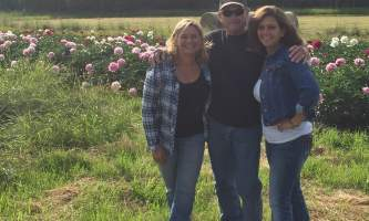 Alaska farm tours Tourists In Peony Field2019