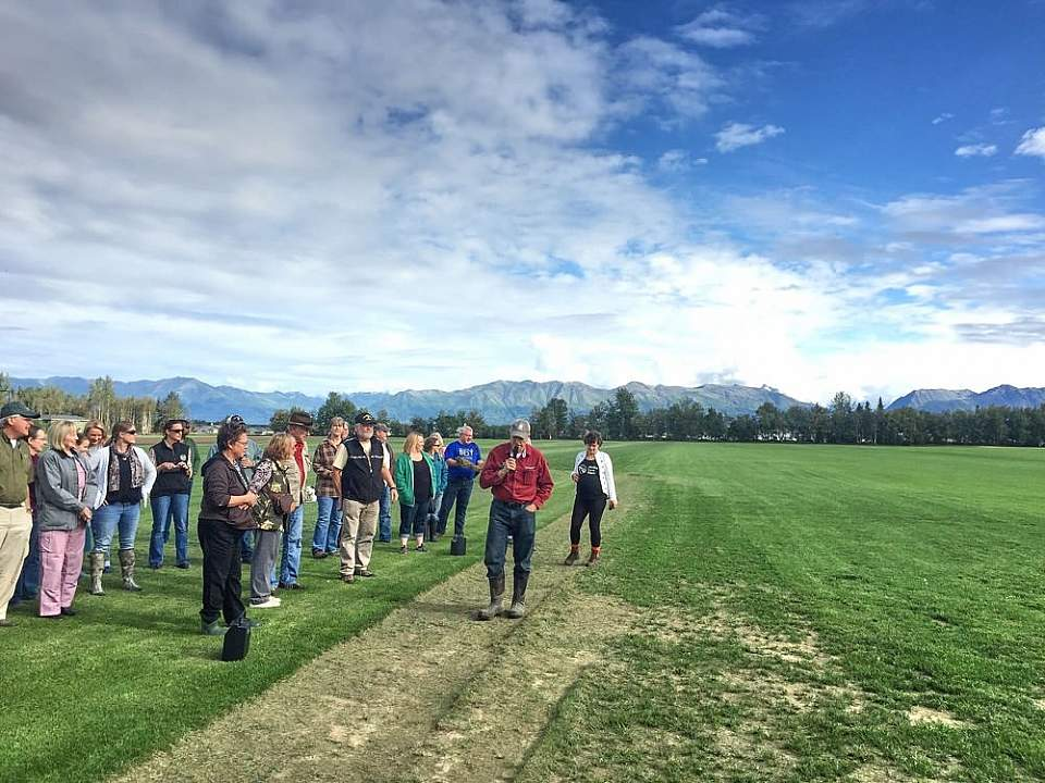Visit working farms, and learn about Alaska's short but productive growing season