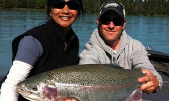 Alaska Kenai River Rainbow Alaska Fishing with Mark Glassmaker