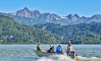 Alaska Big River Lake Boat Alaska Fishing with Mark Glassmaker